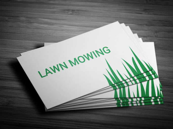 Mowing Business Card - Front
