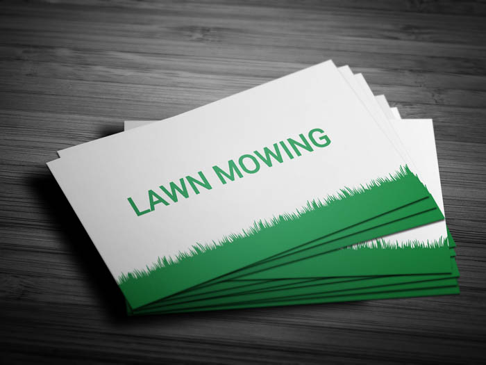 Landscaping Services Business Card - Front