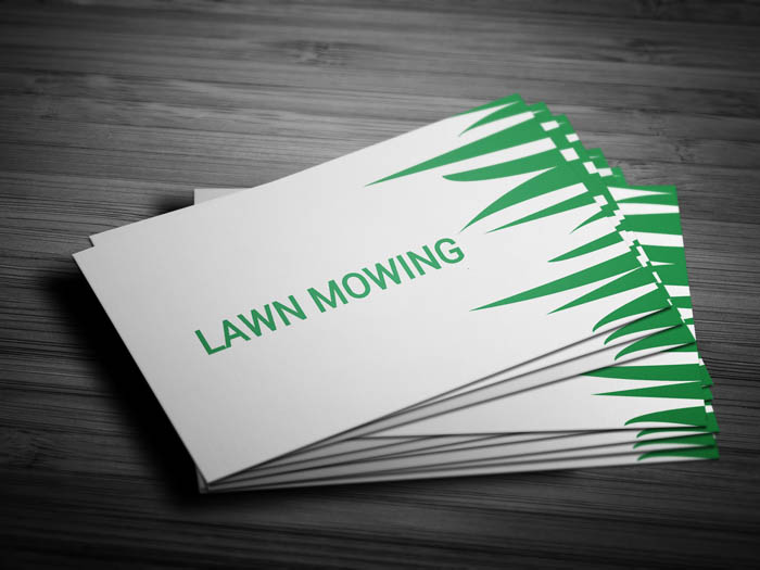 Lawn Maintenance Business Card - Front