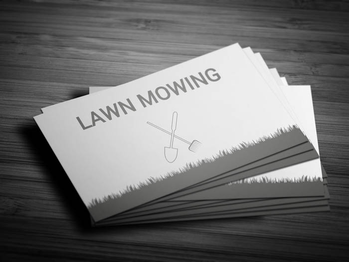 Grass Cutting Business Business Card - Front