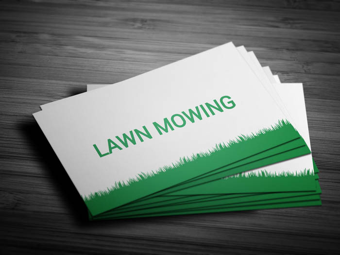 Lawn Business Card - Front