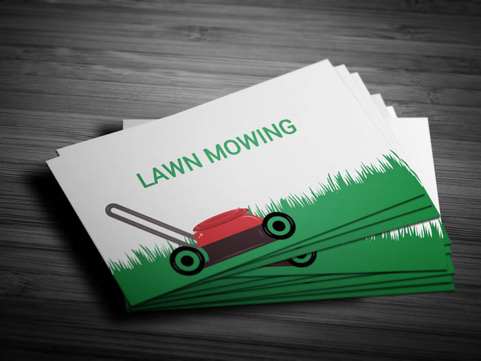 Lawn Mowing Business Card - Front