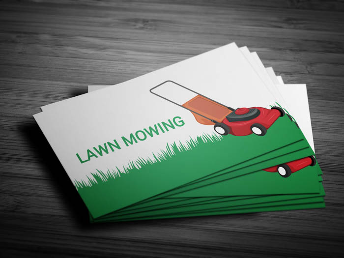 Lawn Care Business Card - Front