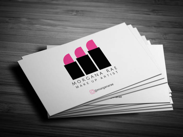 Hair And Makeup Business Card - Front