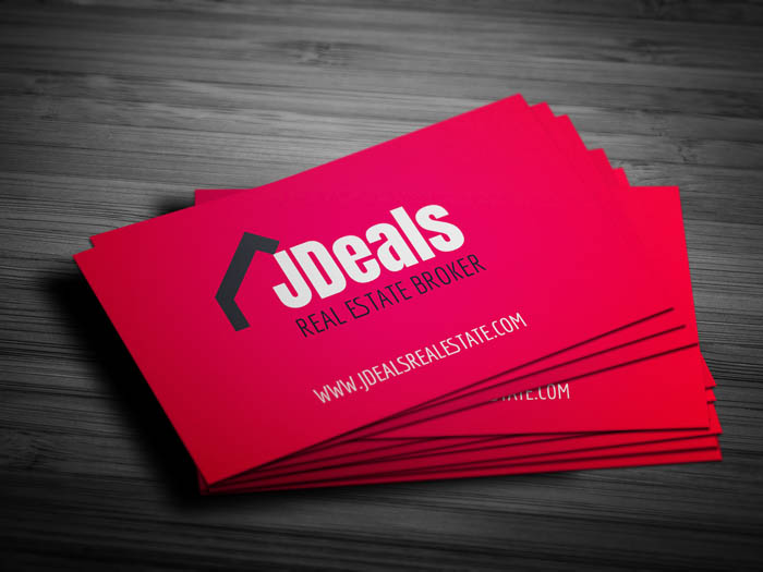 Real Estate Broker Business Card - Front