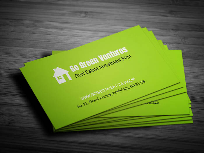 Real Estate Investor Business Card - Front