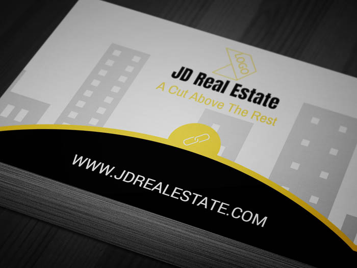 Real Estate Salesperson Business Card - Front