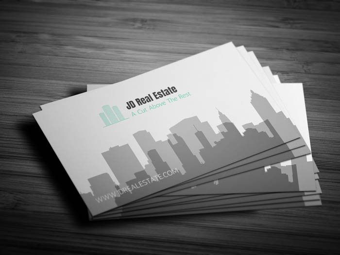 Modern Real Estate Business Card - Front