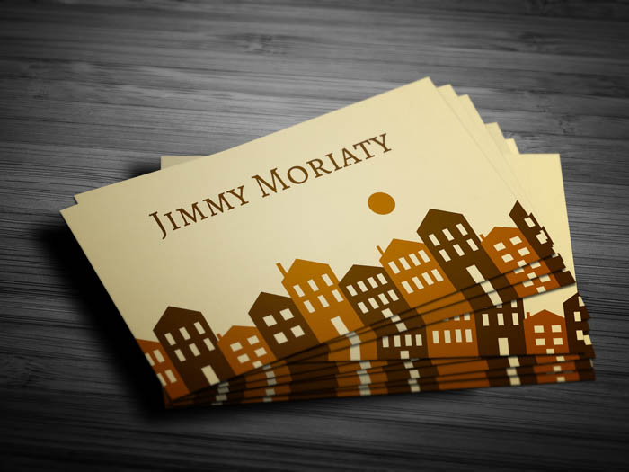 Minimal Real Estate Business Card - Front