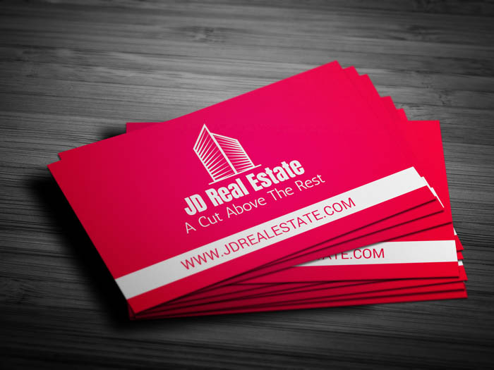 Minimal Realtor Business Card - Front