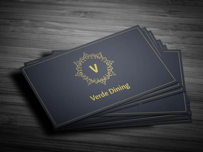Food Business Card - Front