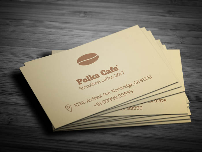 Cafe Membership Business Card - Front