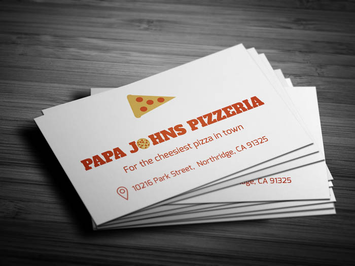 Pizza Business Card - Front