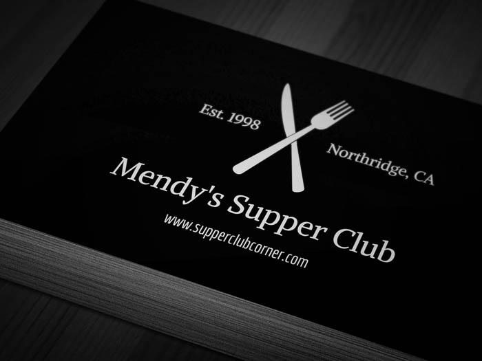 Artistic Restaurant Business Card - Front