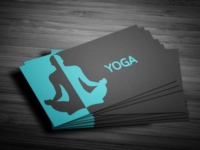 Yoga Instructor Business Card - Front
