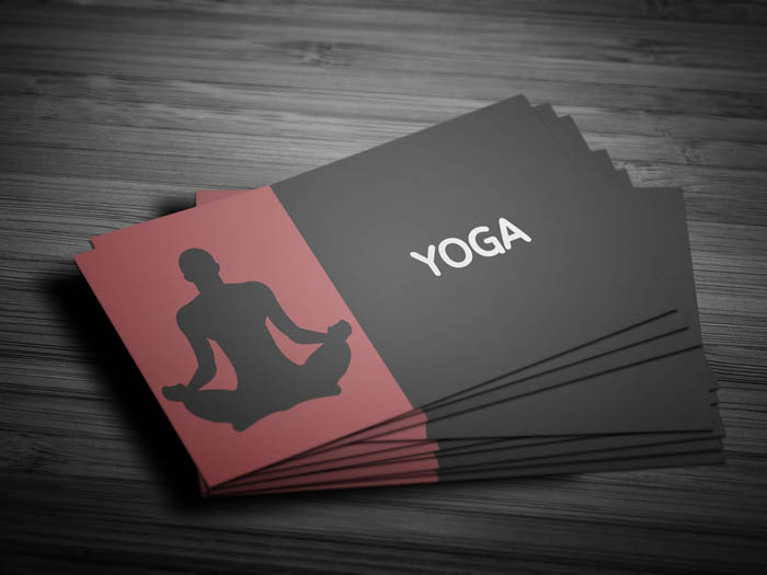 Free yoga visiting card template yoga visiting business card front reheart Images