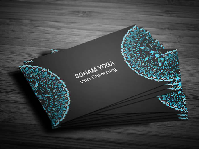 Mandala Business Card - Front