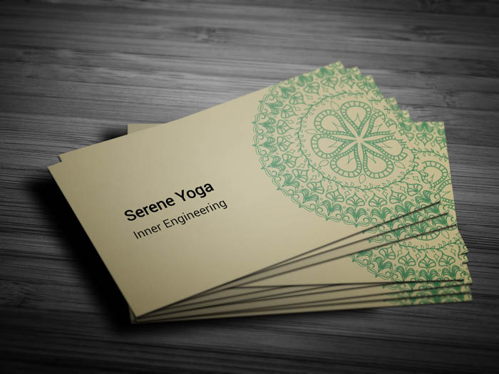 Lotus Flower Business Card - Front