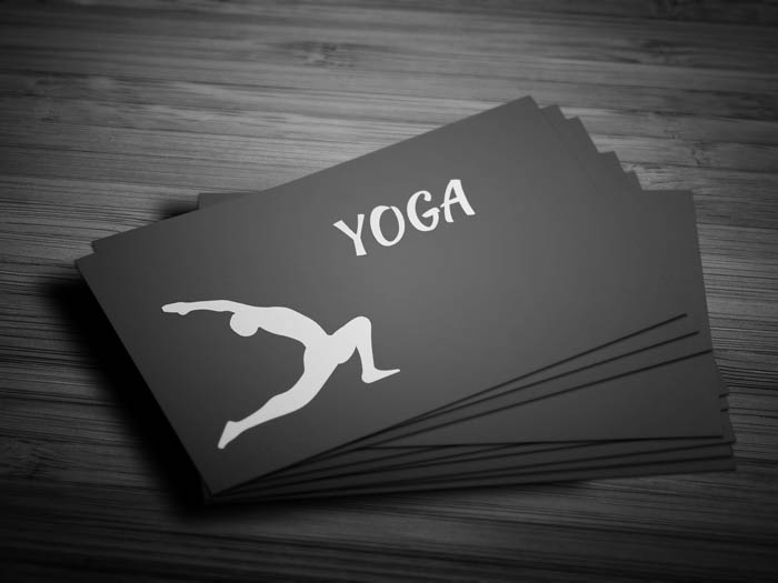 Yoga Studio Business Card - Front
