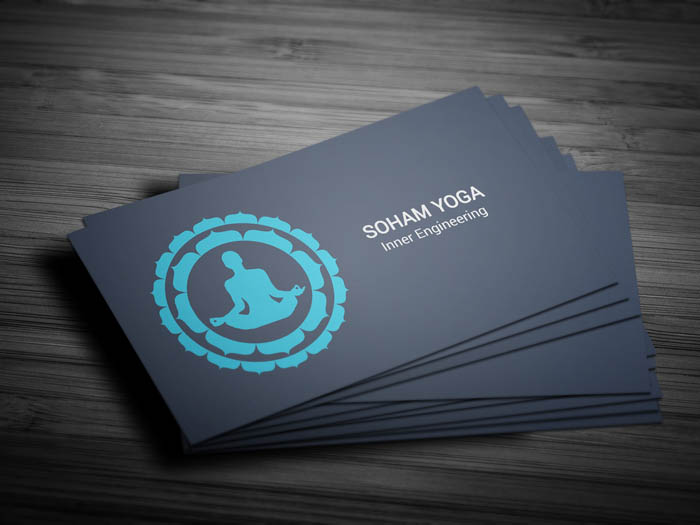 Yoga Class Business Card - Front