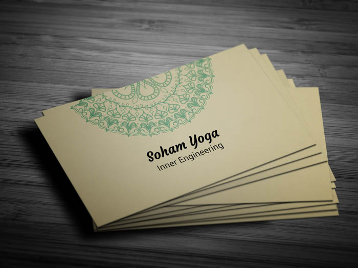 Yoga Mat Business Card - Front