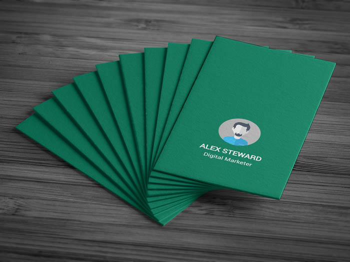 Whatsapp Themed Business Card - Front