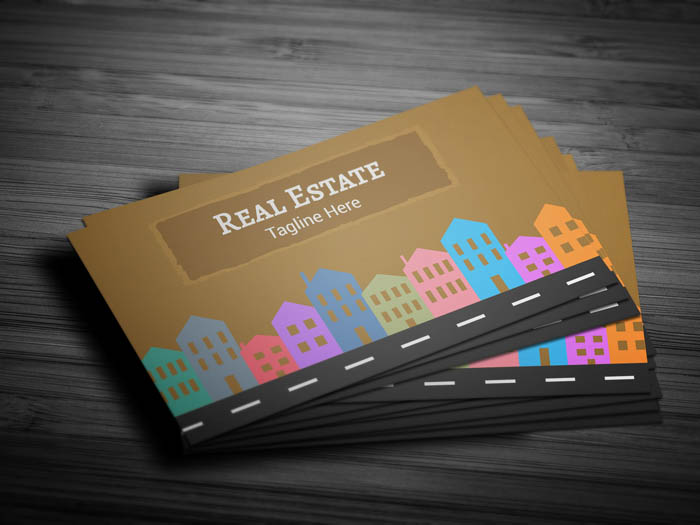 Commercial Real Estate Business Card - Front