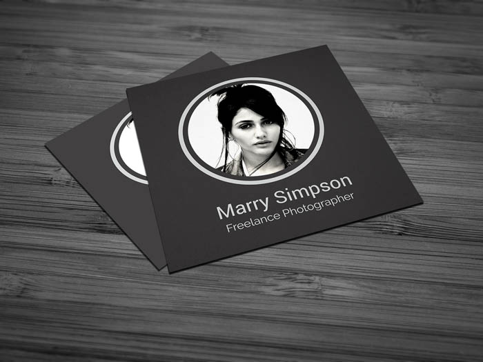 Chic Fashion Designer Business Card - Front