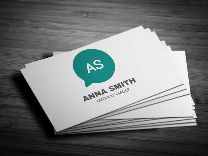 Modern Media Business Card - Front