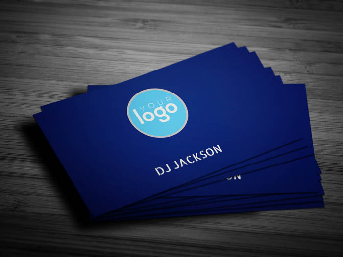 Minimal Dj Business Card - Front
