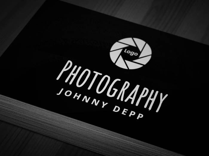 Cool Photography Business Card - Front