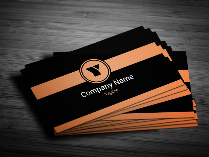 Orange Business Card - Front