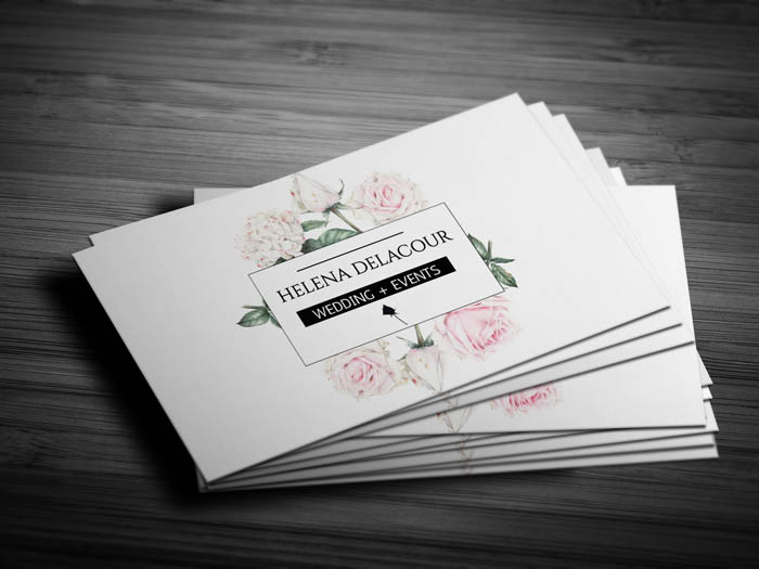 Event Planner Business Card - Front