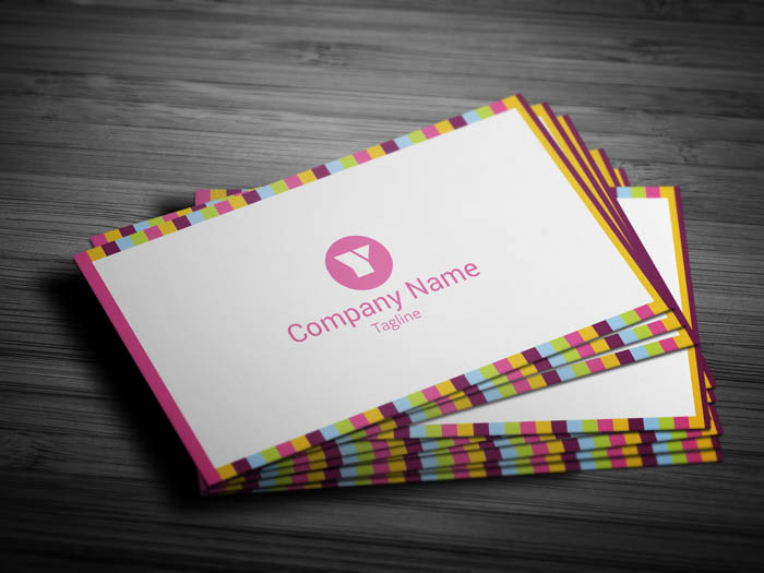 Colorful Business Card - Front