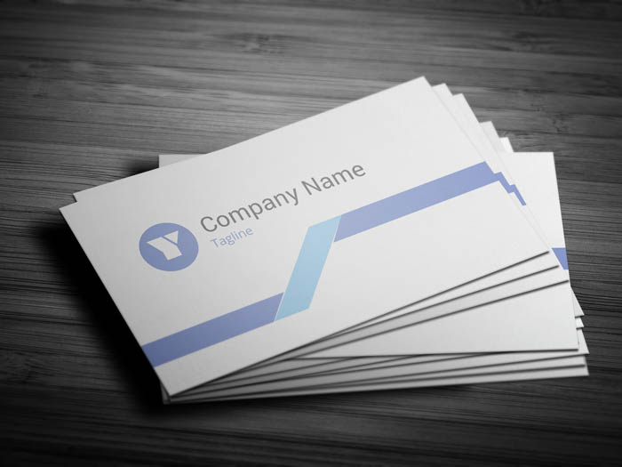 Light Grey Business Card - Front
