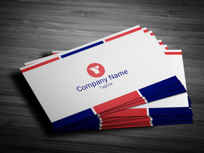 French Business Card - Front
