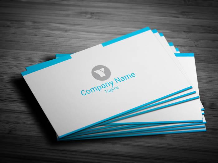Minimal Entrepreneur Business Card - Front