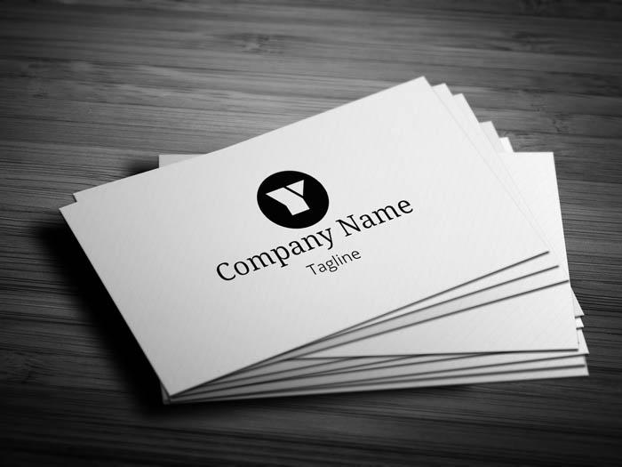 Sleek Business Card - Front