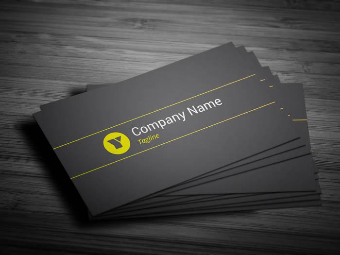 Modern Developer Business Card - Front