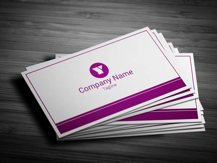 Woman Manager Business Card - Front