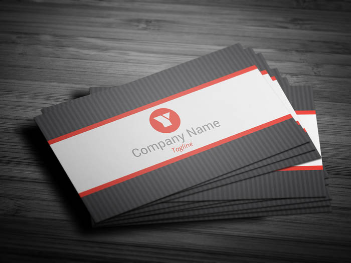 Grey Dot Business Card - Front