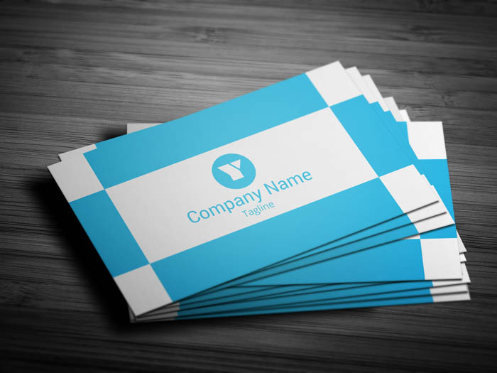 Trendy Business Card - Front