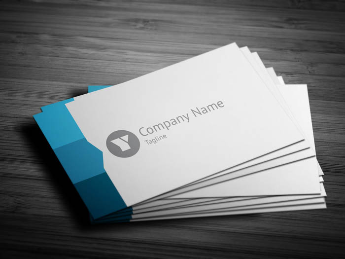 Blue Web Designer Business Card - Front