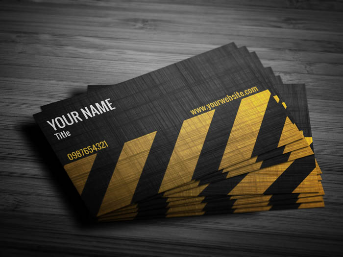 Grunge Construction Business Card - Front