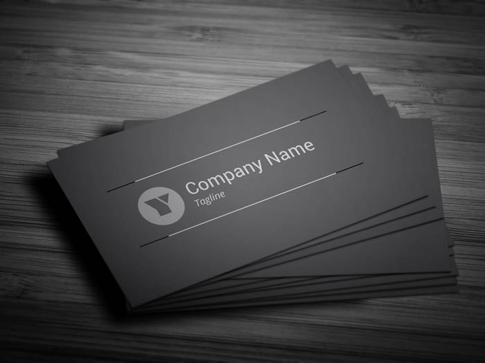 Charcoal Grey Business Card - Front