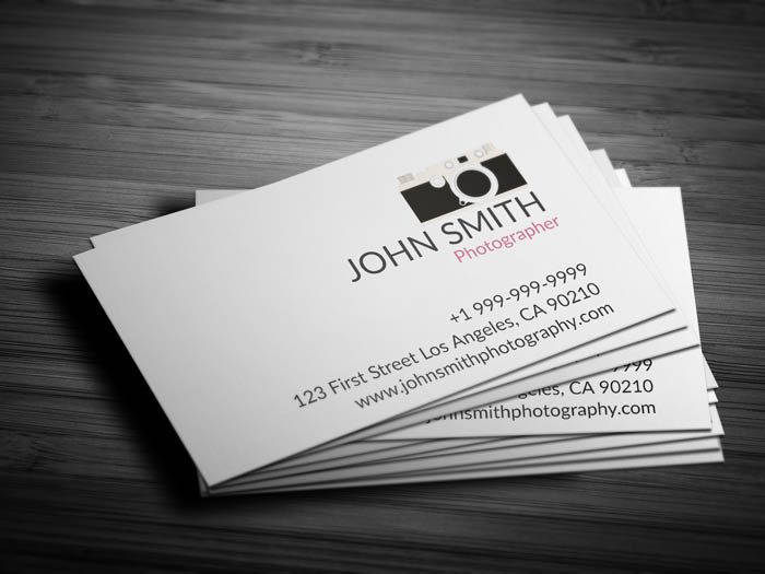 Creative Photography Business Card - Front