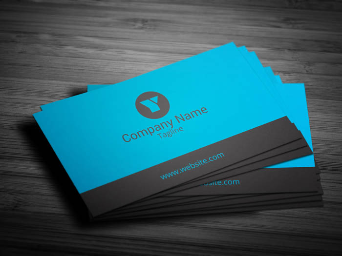 Blue Business Card - Front