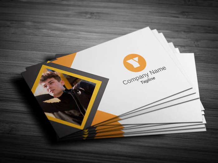 Journalist With Photo Business Card - Front