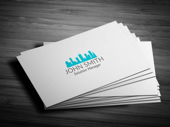 Real Estate Builder Business Card - Front