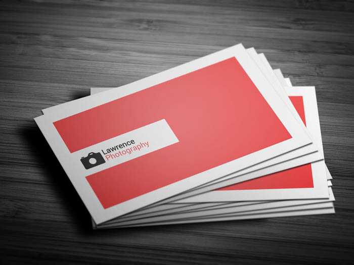 Real Estate Photography Business Card - Front